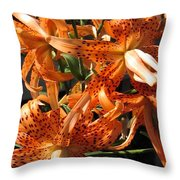 Double Tiger Lily Named Flora Pleno Throw Pillow