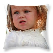 Doubting Face Throw Pillow