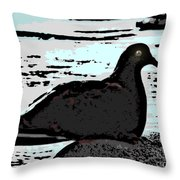 Dove At The Beach Throw Pillow