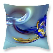 Dove Or Witch - Fight In Soul Of Woman Throw Pillow