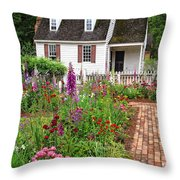 Down A Garden Path Throw Pillow