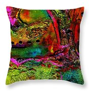 Down By Blue Lake Throw Pillow