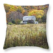 Down In A West Va Valley Throw Pillow
