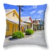 Down On Main Street Throw Pillow