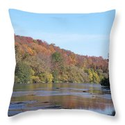 Down The Grand At Glen Morris Throw Pillow