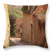 Down The Lane In Beynac France Throw Pillow