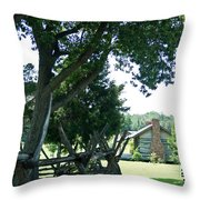 Down The Lane To The Cabin 1 Throw Pillow
