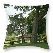Down The Lane To The Cabin 3 Throw Pillow