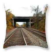 Down The Lines Throw Pillow