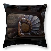 Downstairs Throw Pillow