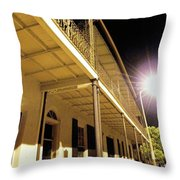 Downtown Balcony Baton Rouge Throw Pillow