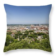 Downtown Birmingham Alabama On A Clear Day Throw Pillow