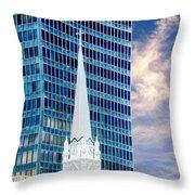 Downtown Blues Throw Pillow