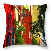 Downtown Ft Myers Throw Pillow