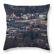 Downtown Grants Pass Sunday Morning Throw Pillow