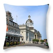 Downtown Kingston Throw Pillow