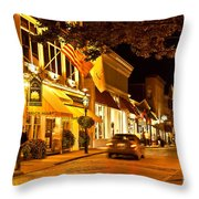 Downtown Newport Throw Pillow