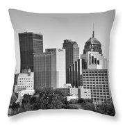 Downtown Okc Throw Pillow