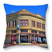 Downtown Shiner Texas Throw Pillow