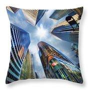 Downtown Sunstream Throw Pillow