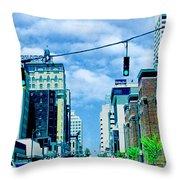 Downtown Union Ave Memphis Tn Throw Pillow