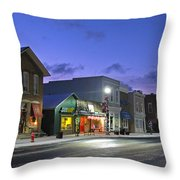 Downtown Waterville At Christmastime Throw Pillow
