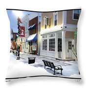 Downtown Waterville Decorated For The Holidays Throw Pillow