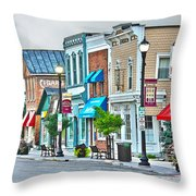 Downtown Waterville Throw Pillow