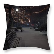 Downtown Winter Throw Pillow
