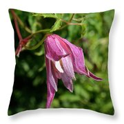 Downy Clematis Throw Pillow