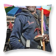 Dr. Luv In Jackson Square Throw Pillow