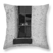 Drab In Black And White Throw Pillow