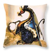 Dragon At Work Throw Pillow