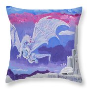 Dragon Castle Throw Pillow