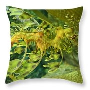 Dragon Seahorse Throw Pillow