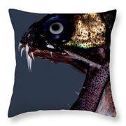 Dragonfish Mouth Throw Pillow