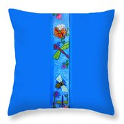 Dragonfly And Bee Throw Pillow