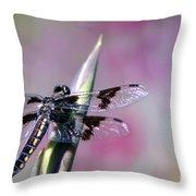 Dragonfly Bokeh Throw Pillow