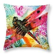 Dragonfly Fairy II Throw Pillow