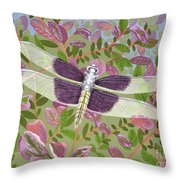 Dragonfly I Throw Pillow