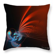 Dragonfly On A Flower Throw Pillow