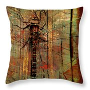 Dragons Wall  Throw Pillow by Empty Wall