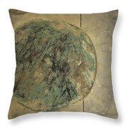 Drain Cover In Cement Throw Pillow