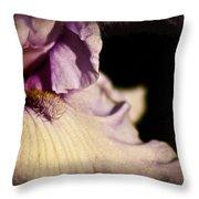 Drama In Purple Throw Pillow