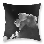 Dramatic Black And White Sunbeams And Storm Clouds Maine Fine Art Print Throw Pillow
