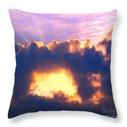 Dramatic Cloud And Sun Formation Throw Pillow