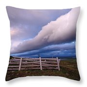 Dramatic Cloud Formations Throw Pillow