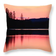 Dramatic Picture Of A Forest-edged Lake Throw Pillow