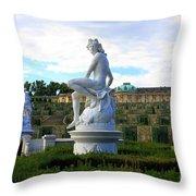 Dramatic Sanssouci Throw Pillow