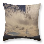 Dramatic Sky Over Mount Shasta Throw Pillow